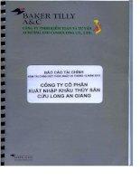 Báo cáo tài chính năm 2013 (đã kiểm toán) - Công ty cổ phần Xuất nhập khẩu Thủy sản Cửu Long An Giang
