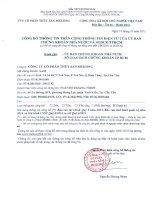 Báo cáo tài chính quý 4 năm 2014 - Công ty Cổ phần Thủy sản Mekong