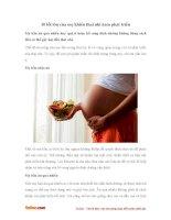 Những sai lầm của mẹ khiến thai nhi chậm phát triển