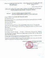 Báo cáo tài chính công ty mẹ năm 2015 (đã kiểm toán) - Công ty cổ phần Bê tông Becamex