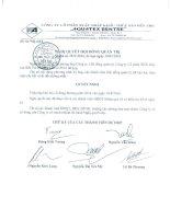 Nghị quyết Hội đồng Quản trị - Công ty Cổ phần Xuất nhập khẩu Thủy sản Bến Tre