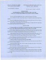 Nghị quyết đại hội cổ đông ngày 25-04-2009 - Công ty Cổ phần Bảo hiểm Ngân hàng Nông nghiệp