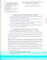 Nghị quyết đại hội cổ đông ngày 13-04-2009 - Công ty cổ phần Xuất nhập khẩu Thủy sản Cửu Long An Giang