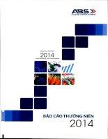 Báo cáo thường niên năm 2014 - Công ty cổ phần Chứng khoán An Bình
