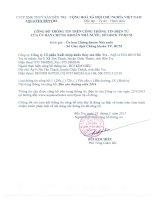 Báo cáo thường niên năm 2014 - Công ty Cổ phần Xuất nhập khẩu Thủy sản Bến Tre