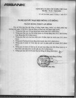 Nghị quyết Đại hội cổ đông thường niên năm 2014 - Ngân hàng Thương mại cổ phần An Bình