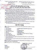Nghị quyết Hội đồng Quản trị ngày 27-6-2011 - Công ty cổ phần Bê tông Becamex