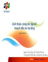 Lap ke hoach ha tang viễn thông FPT Telecom