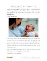 Những lưu ý khi chăm sóc trẻ sơ sinh vào mùa hè