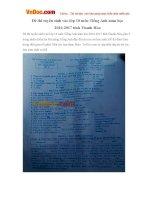 Đề thi tuyển sinh vào lớp 10 môn Tiếng Anh năm học 2016-2017 tỉnh Thanh Hóa