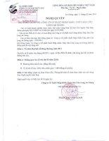 Nghị quyết Hội đồng Quản trị ngày 11-2-2011 - Công ty cổ phần Xuất nhập khẩu Thủy sản Cửu Long An Giang