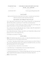 Quyết định 281/QĐ-UBDT phê duyệt nội dung, kinh phí, tổ chức và cá nhân thực hiện dự án bảo vệ môi trường