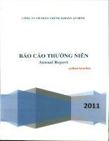 Báo cáo thường niên năm 2011 - Công ty cổ phần Chứng khoán An Bình