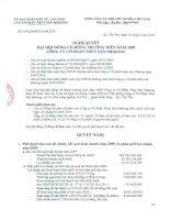 Nghị quyết đại hội cổ đông ngày 24-3-2010 - Công ty Cổ phần Thủy sản Mekong