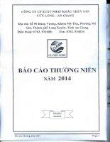 Báo cáo thường niên năm 2014 - Công ty cổ phần Xuất nhập khẩu Thủy sản Cửu Long An Giang