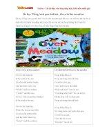 Bé học Tiếng Anh qua bài hát: Over in the meadow