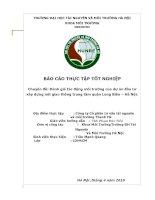 BÁO CÁO THỰC TẬP TỐT NGHIỆP: Đánh giá tác động môi trường của dự án đầu tư xây dựng nút giao thông trung tâm quận Long Biên – Hà Nội.