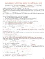 Giải chi tiết đề thi THPT quốc gia môn vật lý từ 2009 đến 2012