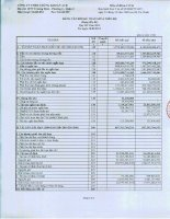 Báo cáo tài chính quý 3 năm 2013 - Công ty TNHH Chứng khoán ACB