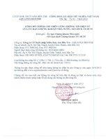 Báo cáo tài chính quý 1 năm 2015 - Công ty Cổ phần Xuất nhập khẩu Thủy sản Bến Tre