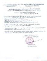 Báo cáo tài chính quý 3 năm 2015 - Công ty Cổ phần Xuất nhập khẩu Thủy sản Bến Tre