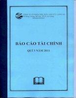 Báo cáo tài chính công ty mẹ quý 3 năm 2011 - Công ty cổ phần Xuất nhập khẩu Thủy sản Cửu Long An Giang