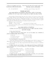 Nghị quyết Hội đồng Quản trị - Công ty Cổ phần Vận tải và Quản lý Bến xe Đà Nẵng