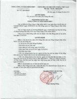 Nghị quyết Hội đồng Quản trị - Tổng Công ty Cổ phần Bảo hiểm Ngân hàng Đầu tư và phát triển Việt Nam