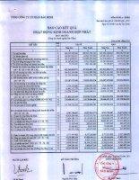 Báo cáo KQKD hợp nhất quý 1 năm 2013 - Tổng Công ty Cổ phần Bảo Minh
