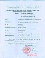 Báo cáo tài chính quý 3 năm 2014 - Công ty cổ phần Chứng khoán Ngân hàng Đầu tư và Phát triển Việt Nam