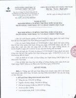 Nghị quyết Đại hội cổ đông thường niên - Ngân hàng Thương mại cổ phần Đầu tư và Phát triển Việt Nam