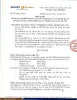 Nghị quyết Hội đồng Quản trị - Công ty Cổ phần Chứng khoán Bảo Việt
