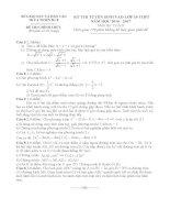 Đề thi tuyển sinh lớp 10 môn toán huế năm học 2016   2017(có đáp án)