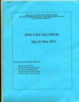 Báo cáo tài chính quý 2 năm 2015 - Công ty Cổ phần Chứng khoán ALPHA