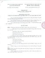 Nghị quyết Hội đồng Quản trị - Công ty Cổ phần Chế tạo Biến thế và Vật liệu điện Hà Nội