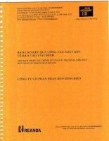 Báo cáo tài chính công ty mẹ quý 2 năm 2014 (đã soát xét) - Công ty cổ phần Phân bón Bình Điền