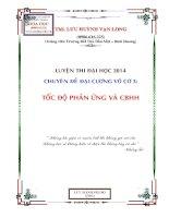 toc do phan Chuyen de 3 ung va can bang hoa hoc