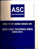 Báo cáo thường niên năm 2010 - Công ty Cổ phần Chứng khoán ASC