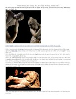 Vì sao những bức tượng hy lạp cổ đại thường khỏa thân