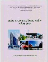 Báo cáo thường niên năm 2014 - Công ty cổ phần Đầu tư Hạ tầng Kỹ thuật T.P Hồ Chí Minh