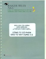 Báo cáo tài chính quý 2 năm 2012 (đã soát xét) - Công ty Cổ phần Đầu tư Xây dựng 3-2
