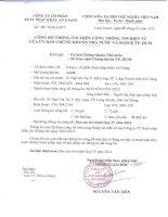 Báo cáo tài chính quý 4 năm 2014 - Công ty cổ phần Xuất nhập khẩu An Giang
