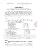 Nghị quyết Đại hội cổ đông thường niên năm 2011 - Công ty Cổ phần Xuất nhập khẩu Thủy sản An Giang