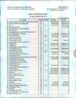 Báo cáo tài chính quý 2 năm 2014 - Công ty cổ phần Khoáng sản Bình Định