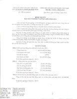 Nghị quyết Đại hội cổ đông thường niên - Công ty Cổ phần Sách và Thiết bị Bình Định