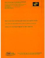 Báo cáo tài chính hợp nhất năm 2010 (đã kiểm toán) - Công ty Cổ phần Dịch vụ Bến Thành