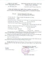 Báo cáo tài chính quý 3 năm 2014 - Công ty cổ phần Xuất nhập khẩu An Giang