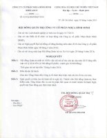 Nghị quyết Hội đồng Quản trị - Công ty Cổ phần Nhựa Bình Minh