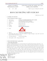 Báo cáo thường niên năm 2015 - Công ty cổ phần Khoáng sản Á Châu