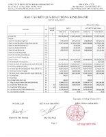 Báo cáo KQKD quý 1 năm 2012 - Công ty Cổ phần Chứng khoán Nông nghiệp và Phát triển Nông thôn
